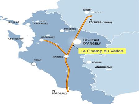 Le Champ du Vallon, ASNIERES LA GIRAUD, à 5 mn de ST JEAN D'ANGELY et 15 km de Saintes